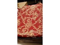 Brand new king size red and beige bedding modern and stylish