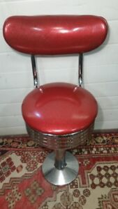 1950s Style Pub Tables, Stools and Chairs - Retro! Cherry Red