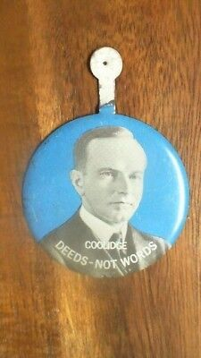 VINTAGE VOTE FOR SEAGRAMS  SEVEN COOLIDGE  METAL BUTTON WHISKEY TU19