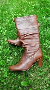 Leather Slouchy Boots