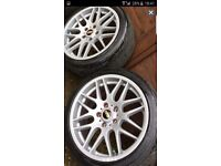 18 bmw alloys wheels tyres 5x120 - 225 40 18 - stunning csl style wheels fit other cars transporter