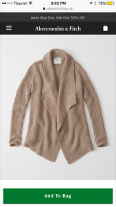 Abercrombie & Fitch Comfy Cardigan New with tags
