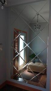 Square frameless mirror / Miroir sans cadre carré