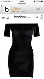 Black velvet Boohoo dress