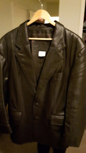 MEN'S BROWN LEATHER BLAZER/JACKET size M