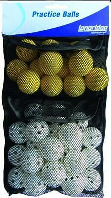 Longridge Golf Practice Ball Pack. 12 Foam and 20 Airflow Balls