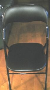 Black card table chairs