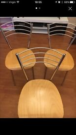 3 Dining Chairs good condition