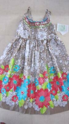 Bonnie Jean Floral Sleeveless Dress For Girls Multicolor Sz 12/16 -  NWT $38](Denim Dress For Girls)