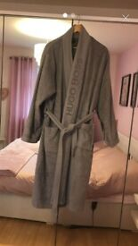 Mens Grey Hugo Boss Bath robe