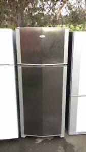 stainess steel 430 liter whirlpool fridge   it is in good working . go