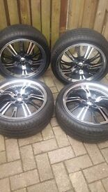"Konig 17"" Alloy Wheels With Tyres near mint condition"
