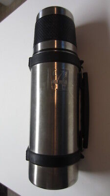 Thermos Stainless Steel Push Button - Stainless Steel 7-Eleven Embossed Logo Thermos w/ Open / Close Push Button Lid