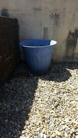 very large blue plastic planter for sale