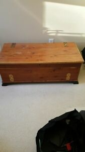 solid cedar linen chest