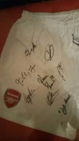 Signed Arsenal Shorts With Certificate and Hologram
