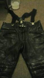 Size 38 Inch motorcycle leather trousers