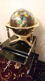 Statement piece - Semi precious gems stone large globe of world