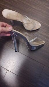 Fitness competition shoes (bikini) clear stilettos
