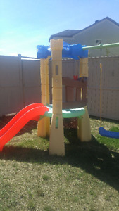 a nice swing set little tikes almost new