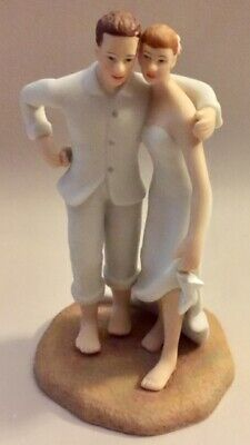 NEW IB Beach Themed Bride Groom Figurine Embrace Wedding Cake Topper Weddingstar - Beach Themed Cake Toppers