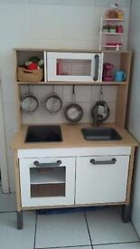 Lovely wooden play kitchen from IKEA