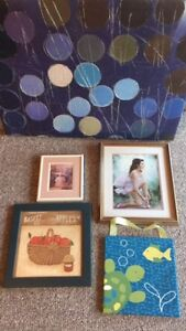 home decor items - framed pictures and paintings