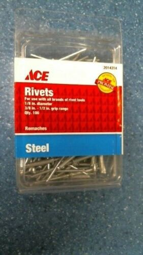 Ace 2014314 Rivets 1/8in-1/2in Qty 100, FREE SHIPPING