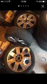 17 inch Ford Mondeo Wheels 5x108 full set plus speare wheel.