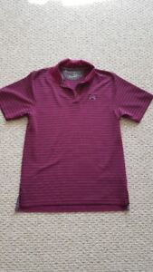Under Armour Striped Golf Polo - for sale