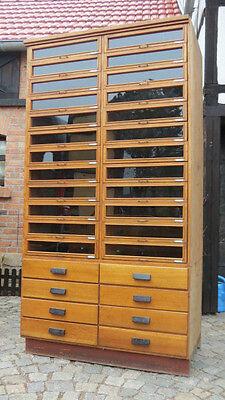 4/5/417 großer Ladenschrank Schubladenschrank Industriedesign Loft 1930