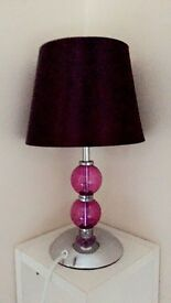 (SOLD!!!) Purple Lamp - Great Condition