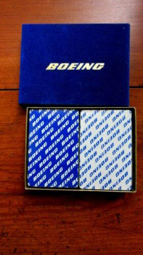 Vtg PLAYING CARDS TWO DECKS BOEING - SEALED w/Blue Box