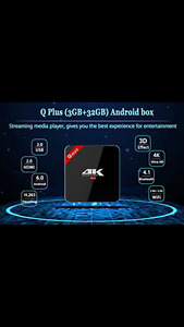 THE NEW Q PLUS ANDROID BOX FOR SALE AND MANY MORE TO CHOOSE FROM
