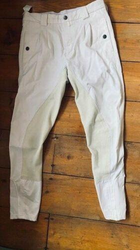 Kingland Front Zip  DRESSAGE  Breeches White * Men