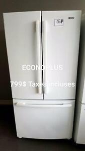 ECONOPLUS LIQUIDATION REFRIGERATEUR 3 PORTES BLANC A PARTIR DE 699.99 TAXES INCLUSES