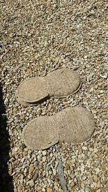 2 decorative stone stepping stone foot / shoes for sale