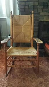 Rush Seat and Back Armed Rocker