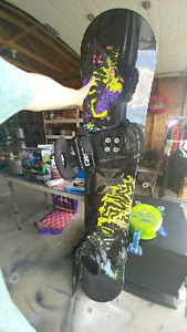 Snowboard/bindings (Ride brand) and Boots (Forum brand mens 11)