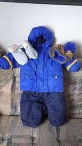 Boys 18 month snowsuit, hat and mitts