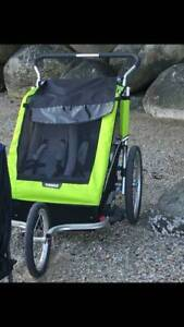 THULE DOUBLE STROLLER comes with Bike Attachment (Paid $800)