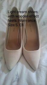 Ladies Cream Shoes