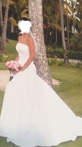 Wedding dress, veil and tiara