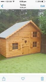 FREE UPDRADE TO 19MM THICK T&G WEATHER BOARD 6X10 UPSTAIR PLAYHOUSE