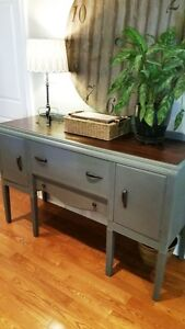 Painted Waterfall Art Deco Buffet- So Chic!!