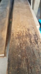 Reclaimed, spalted wormy elm boards