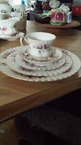royal albert fine bone china--lavender rose pattern