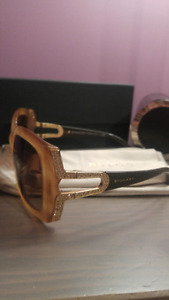 a gorgeous bvlgari  suglasses  with swarovski crystals
