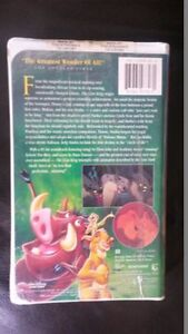 Disney VHS Classic - The Lion King Kitchener / Waterloo Kitchener Area image 2