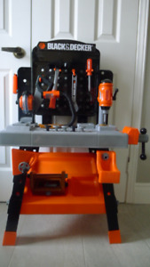 Black & Decker Child's Toy Workbench and Power Tools